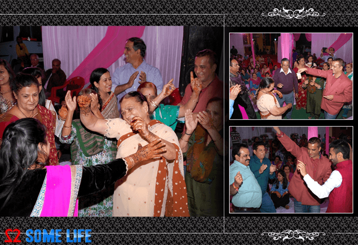 Indian Wedding Sangeet Mehandi Family