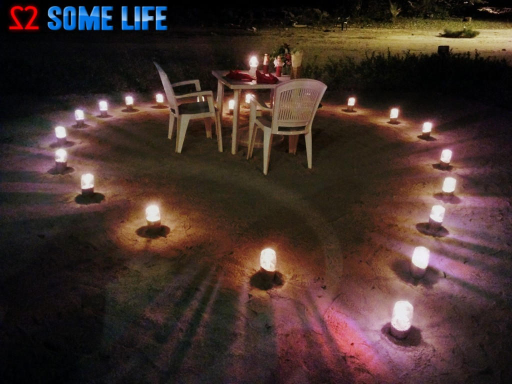 A Surprise Beach Side Candle light Dinner