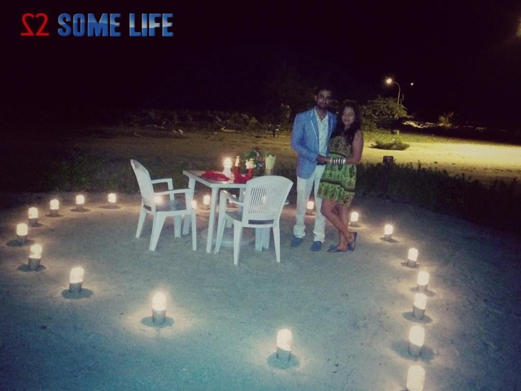 Maldives Honeymoon Diaries - A Surprise Dinner