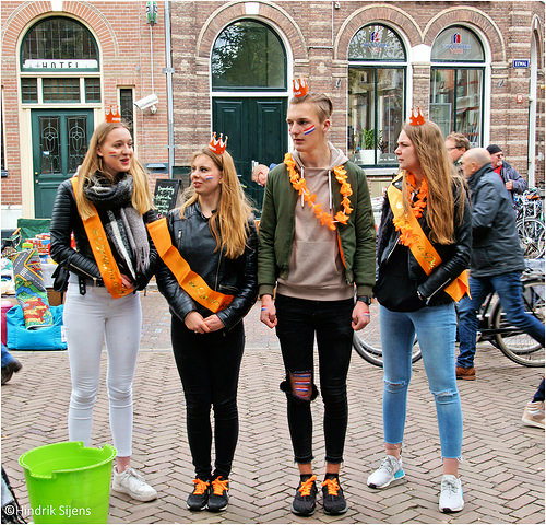 Koningsdag (King's day) in the Netherlands NETHERLANDS